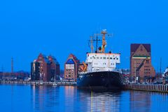 Εξισώνοντας στο λιμένα πόλεων του $ροστόκ, Γερμανία Στοκ εικόνες με δικαίωμα ελεύθερης χρήσης