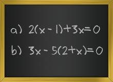 εξισώσεις math Στοκ φωτογραφίες με δικαίωμα ελεύθερης χρήσης