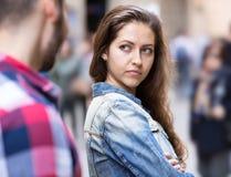Εξοικείωση στην οδό Στοκ Εικόνες