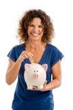 Εξοικονόμηση κάποιων χρημάτων στοκ εικόνα με δικαίωμα ελεύθερης χρήσης