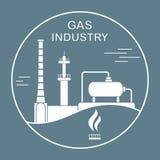 Εξοπλισμός βιομηχανίας φυσικού αερίου Εξαγωγή, επεξεργασία ελεύθερη απεικόνιση δικαιώματος