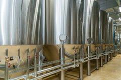 Εξοπλισμός για την παραγωγή μπύρας Στοκ φωτογραφία με δικαίωμα ελεύθερης χρήσης