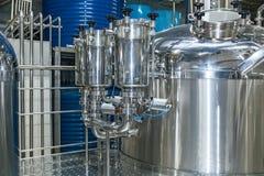 Εξοπλισμός για την παραγωγή μπύρας Στοκ εικόνα με δικαίωμα ελεύθερης χρήσης