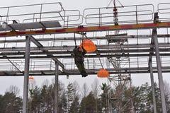 Εξοπλισμός κατάρτισης για τους στρατιωτικούς αλεξιπτωτιστές πριν από Στοκ Εικόνα