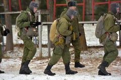 Εξοπλισμός κατάρτισης για τους στρατιωτικούς αλεξιπτωτιστές πριν από τα πρώτα άλματα Στοκ Εικόνες