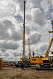 Εξοπλισμός κατασκευής στη δράση Tyumen Στοκ Εικόνα