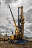 Εξοπλισμός κατασκευής στη δράση Tyumen Στοκ Φωτογραφίες