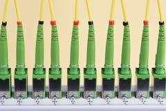 Εξοπλισμός μεταφοράς δεδομένων από το δίκτυο οπτικής ίνας Στοκ φωτογραφία με δικαίωμα ελεύθερης χρήσης