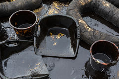 Εξοπλισμός που χρησιμοποιείται για να καθαρίσει το ατύχημα διαρροών πετρελαίου Στοκ Εικόνα