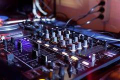 Εξοπλισμός του DJ Στοκ εικόνα με δικαίωμα ελεύθερης χρήσης