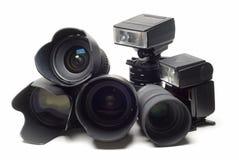 εξοπλισμός φωτογραφικό&sig Στοκ εικόνες με δικαίωμα ελεύθερης χρήσης