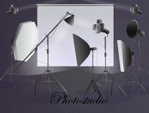 εξοπλισμός φωτογραφικό&sigm Photostudio απεικόνιση αποθεμάτων
