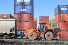 Εξοπλισμός φόρτωσης δοχείων τραίνων Στοκ Εικόνα