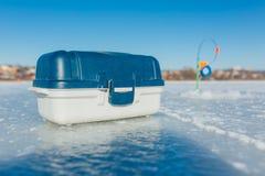 Εξοπλισμός χειμερινής αλιείας στοκ εικόνες