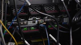 Εξοπλισμός Datacenter και υλικό κεντρικών υπολογιστών, καινοτομίες υπολογιστών και τάσεις απόθεμα βίντεο