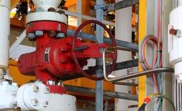 Εξοπλίζει το παράκτιο διυλιστήριο πετρελαίου Καλά επικεφαλής σταθμός στην πλατφόρμα Στοκ φωτογραφία με δικαίωμα ελεύθερης χρήσης