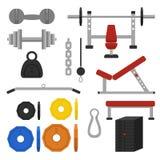 Εξοπλισμοί Workout διανυσματική απεικόνιση