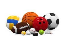 Εξοπλισμός αθλητικών σφαιρών διανυσματική απεικόνιση