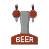 Εξοπλισμός για απομονωμένη την μπύρα διανυσματική απεικόνιση ελεύθερη απεικόνιση δικαιώματος