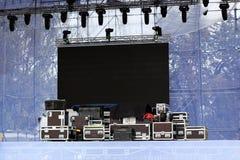 Εξοπλισμός για μια συναυλία στοκ φωτογραφία με δικαίωμα ελεύθερης χρήσης