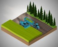 Εξοπλισμός για τη γεωργία διανυσματική απεικόνιση