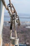 Εξοπλισμός για το βιομηχανικό αλπινισμό Στοκ Εικόνες