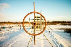 Εξοπλισμός εγκαταστάσεων γεώτρησης πετρελαίου και φυσικού αερίου Στοκ Φωτογραφία