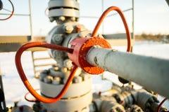 Εξοπλισμός εγκαταστάσεων γεώτρησης πετρελαίου και φυσικού αερίου Στοκ Εικόνες