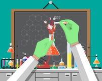 Εξοπλισμός εκπαίδευσης επιστήμης της βιολογίας ελεύθερη απεικόνιση δικαιώματος