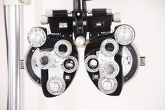 Εξοπλισμός εξετάσεων οφθαλμών Στοκ εικόνα με δικαίωμα ελεύθερης χρήσης