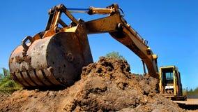 Εξοπλισμός κατασκευής ανασκαφής Στοκ εικόνα με δικαίωμα ελεύθερης χρήσης