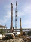 Εξοπλισμός κατασκευής στο εργοτάξιο οικοδομής Στοκ εικόνα με δικαίωμα ελεύθερης χρήσης