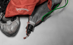 Εξοπλισμός κομμάτων de bayonne baiona Fetes - χορεύοντας παπούτσια και εξαρτήματα Στοκ Φωτογραφία