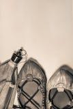 Εξοπλισμός κομμάτων de bayonne Fetes - χορεύοντας σέπια παπουτσιών και εξαρτημάτων Στοκ Φωτογραφίες