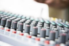 Εξοπλισμός μουσικής Concole Στοκ εικόνες με δικαίωμα ελεύθερης χρήσης