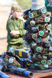 Εξοπλισμός παιδικών χαρών ετικεττών λέιζερ Στοκ εικόνες με δικαίωμα ελεύθερης χρήσης