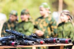 Εξοπλισμός παιδικών χαρών ετικεττών λέιζερ Στοκ Εικόνα