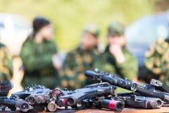 Εξοπλισμός παιδικών χαρών ετικεττών λέιζερ Στοκ Εικόνες