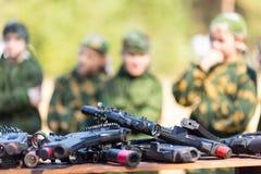 Εξοπλισμός παιδικών χαρών ετικεττών λέιζερ Στοκ φωτογραφίες με δικαίωμα ελεύθερης χρήσης