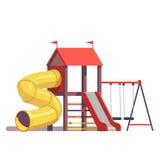Εξοπλισμός παιδικών χαρών παιδιών ελεύθερη απεικόνιση δικαιώματος