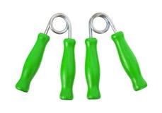 Εξοπλισμός πιασιμάτων χεριών για την άσκηση που απομονώνεται Στοκ φωτογραφία με δικαίωμα ελεύθερης χρήσης