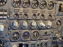 Εξοπλισμός πιλοτηρίων αεροσκαφών αεριωθούμενων αεροπλάνων Στοκ εικόνες με δικαίωμα ελεύθερης χρήσης