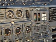 Εξοπλισμός πιλοτηρίων αεροσκαφών αεριωθούμενων αεροπλάνων Στοκ Φωτογραφίες