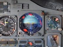 Εξοπλισμός πιλοτηρίων αεροσκαφών αεριωθούμενων αεροπλάνων Στοκ Φωτογραφία