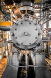 Εξοπλισμός, που διοχετεύει με σωλήνες όπως βρίσκεται μέσα βιομηχανικού Στοκ Εικόνες