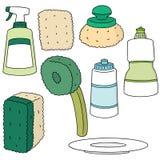 Εξοπλισμός πλύσης πιάτων Στοκ Εικόνες