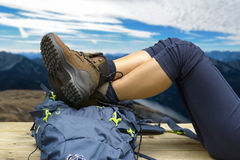 Εξοπλισμός, σακίδιο, μπότες και σακίδιο πλάτης πεζοπορίας Στοκ εικόνα με δικαίωμα ελεύθερης χρήσης