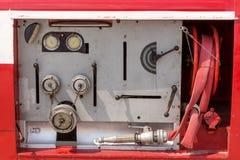 Εξοπλισμός σε ένα παλαιό πυροσβεστικό όχημα Στοκ εικόνα με δικαίωμα ελεύθερης χρήσης