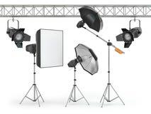 Εξοπλισμός στούντιο φωτογραφιών διανυσματική απεικόνιση