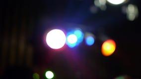 Εξοπλισμός φωτισμού για το στάδιο, λέσχη νύχτας disco απόθεμα βίντεο